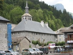 Ancienne abbaye de Sixt - English: Overview of the abbey of Sixt-Fer-à-Cheval (Haute-Savoie, France).