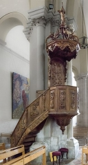 Temple protestant - English:  Castelsarrasin Tarn-et-Garonne, France - The pulpit of the seventeenth century from the Abbey of Belleperche.