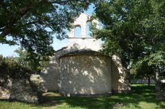 Ancienne église Sainte-Marie, actuelle chapelle du cimetière - Deutsch: Apsis Sainte-Marie, Buoux
