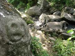 Site du Plessis 2 - Français:   Pétroglyphe Arawak dans la rivière Plessis (Guadeloupe).