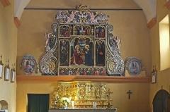 Eglise - Français:   Retable de Louis Bréa dans l'église de la Nativité de Lieuche.