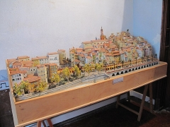 Hôtel d'Adhémar de Lantagnac - English: Model of the town of Menton in the hôtel d'Adhémar de Lantagnac in Menton (Alpes-Maritimes, France).
