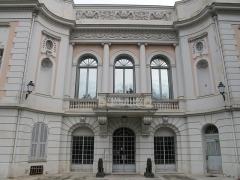 Propriété dite Le Palais Carnoles - English: The Palais Carnolès in Menton (Alpes-Maritimes, France). Seen from South-West side.