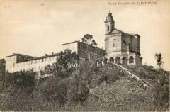 Ancienne abbaye de Saint-Pons, actuellement hôpital Pasteur - abbaye Saint-Pons à Nice (Alpes-Maritimes, France) vers 1900