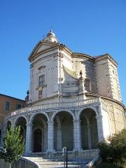 Ancienne abbaye de Saint-Pons, actuellement hôpital Pasteur - Français:   Fronton de l\'église de l\'abbaye de \