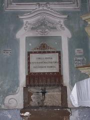 Ancienne abbaye de Saint-Pons, actuellement hôpital Pasteur -  reliquaire de l'abbaye Saint-Pons à Nice (France), contenant un fragment du tombeau mérovingien