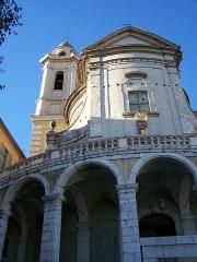 Ancienne abbaye de Saint-Pons, actuellement hôpital Pasteur - Français:   Façade méridionale de l\'église de l\'abbaye de \