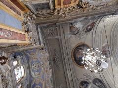 Cathédrale Sainte-Reparate - Intérieur de l'Église Saint-Jacques-le-Majeur_Nice (Rue Droite dans le Vieux-Nice, Alpes-Maritimes, Sud de la France).