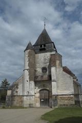 Eglise - Deutsch: Kirche Saint-Loup-de-Sens in Auxon im Département Aube (Champagne-Ardenne/Frankreich), Westfassade mit Turm