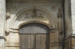 Eglise - Deutsch: Kirche Saint-Loup-de-Sens in Auxon im Département Aube (Champagne-Ardenne/Frankreich), Westportal im Stil der Renaissance