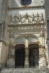 Eglise - Deutsch: Kirche Saint-Loup-de-Sens in Auxon im Département Aube (Champagne-Ardenne/Frankreich), Südportal im Stil der Renaissance