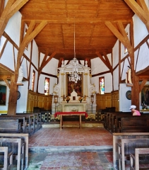 Eglise - Deutsch: Langhaus der Kirche der Kreuzeserhöhung, Bailly-le-France, Département Aube, Region Champagne-Ardenne (heute Großer Osten), Frankreich