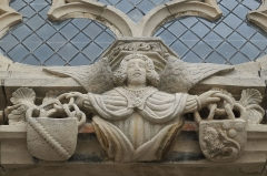 Eglise Saint-Pierre-et-Saint-Paul - Deutsch: Katholische Kirche Saint-Pierre-Saint-Paul in Balignicourt im Département Aube (Champagne-Ardenne/Frankreich), Relief eines Engels