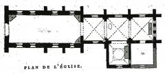 Eglise - Français:   dessin de l\'Église Saint-Pierre-aux-Liens par Fichot.