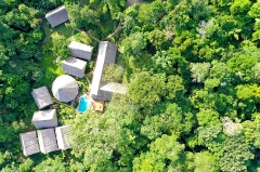 Eglise - English: 2019 Aerial View of Blue Morpho Ayahuasca Lodge and Retreat Center