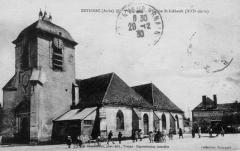 Eglise Saint-Loup - Estissac (Aube). L'Eglise Saint-Liébault (XVI ème siècle) Granddidier, phot.-édit., Troyes. Collection Vivargent