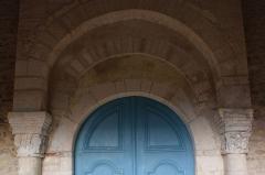 Eglise - Français:   Fouchères église Le portail Ouest