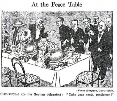 Eglise - English: At the Peace Table. Treaty of Versailles. Clemenceau says,