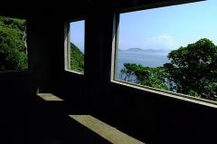 Eglise - 日本語: 2016-08-05 Kami-shima Island,Iraago-misaki from Kanteki-shô Ruins 神島監的哨跡から見る伊良湖岬  三島由紀夫『潮騒』舞台