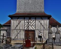 Eglise - Deutsch: Fassade der Kirche St. Quentin, Mathaux, Département Aube, Region Champagne-Ardenne (heute Großer Osten), Frankreich