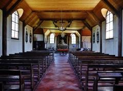 Eglise - Deutsch: Langhaus der Kirche St. Quentin, Mathaux, Département Aube, Region Champagne-Ardenne (heute Großer Osten), Frankreich