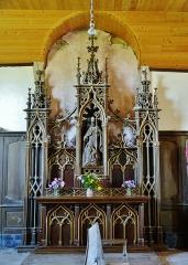 Eglise - Deutsch: Seitenaltar der Kirche St. Quentin, Mathaux, Département Aube, Region Champagne-Ardenne (heute Großer Osten), Frankreich