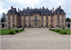 Château de la Motte-Tilly -  Château de La Motte-Tilly depuis l'entrée principale