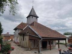 Eglise Saint-Hubert - Français:   Eglise de Pars-lès-Chavanges (Aube - Champagne - France) édifice à pans de bois de la région du Der