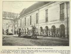 Abbaye Saint-Loup - Français:   ancienne vue du musée
