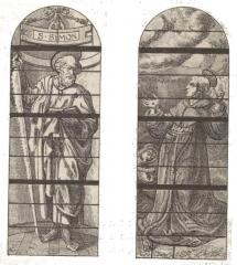 Eglise Saint-Martin-es-Vignes - par un dessin de Fichot.