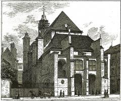 Eglise Saint-Nicolas - par un dessin de C. Fichot.