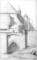Eglise Saint-Nicolas - une vue d'une ancienne porte de Troyes