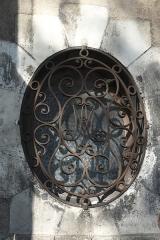Eglise Saint-Nicolas - Deutsch: Kirche Saint-Nicolas in Troyes im Département Aube (Champagne-Ardenne/Frankreich), ovales Fenster mit Gitter