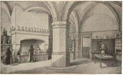 Hôtel-Dieu - Français:   par un dessin de Fichot.