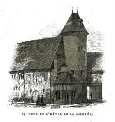 Hôtel du Petit Louvre - Français:   par un dessin de Fichot.