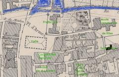 Préfecture de l'Aube (Hôtel de Département) - Français:   une vue de centre ville de Troyes, préfecture, ancienne halle.