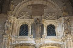 Eglise - Deutsch: Kirche Saint-Pierre in Vendeuvre-sur-Barse im Département Aube (Champagne-Ardenne/Frankreich), Portal