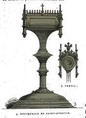 Chapelle Saint-Aventin - Français:   dessin de fichot.