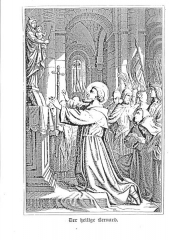 Ancienne abbaye de Clairvaux -  Picture of Saint bernard of Clairvaux
