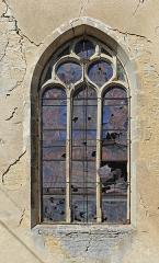 Eglise de Puits - Nederlands: Le Puits (gem. Puits-et-Nuisement, departement Aube, Frankrijk): Maria-Tenhemelopnemingskerk - detail: glasraam