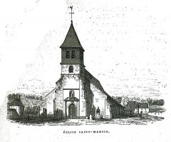 Eglise Saint-Martin - Français:   par un dessin de Fichot.