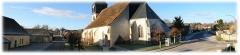 Eglise Saint-Martin - Français:   Panorama de Chennegy (Aube, Champagne-Ardenne, France).