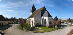 Eglise Saint-Martin - Français:   Panorama de Chennegy
