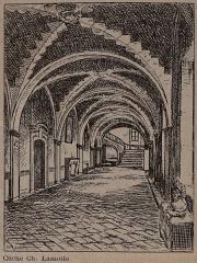 Eglise abbatiale de Blanchefosse (restes) - Français:   cloitre de l\'Abbaye de Bonnefontaine.