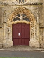 Eglise - Français:   Charbogne (Ardennes, France); église Saint-Rémi: le portail.