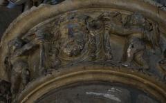 Eglise Saint-Lie de Mohon - Français:   En l\'église  Saint Lié de Mohon . Détail d\'un pilier .