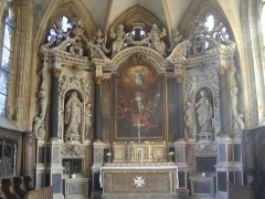 Eglise Saint-Lie de Mohon -  Église Saint-Lié de Mohon, retable, statue et toile classés M.H.