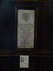 Eglise Saint-Rémi de Laval-Dieu - Français:   Abbaye Laval Dieu à Monthermé (France), plaque commémorative Nicolaus Oudet