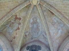 Eglise Saint-Léger - Français:   L\'église Saint-Léger est l\'une des trois églises de la commune de Monthermé et est dédiée à  Saint-Léger, Voûte avec Couronnement de la Vierge, Christ en gloire et Descente de Croix, cette dernière fresque classée M.H..