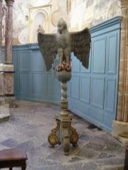 Eglise Saint-Léger - Français:   L\'église Saint-Léger est l\'une des trois églises de la commune de Monthermé et est dédiée à  Saint-Léger, ici le Lutrin Classé